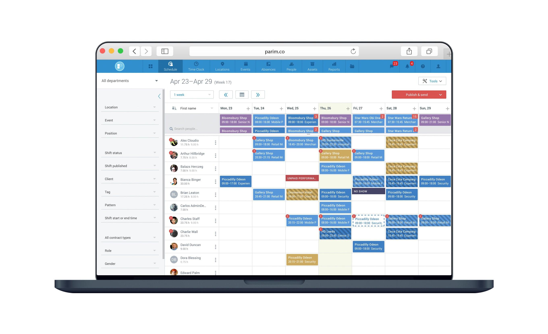 Professional Workforce Scheduling Software